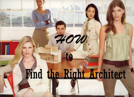 Finding the right architect